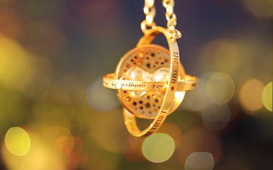 волшебство, украшение, золотой, маховик времени, цвет