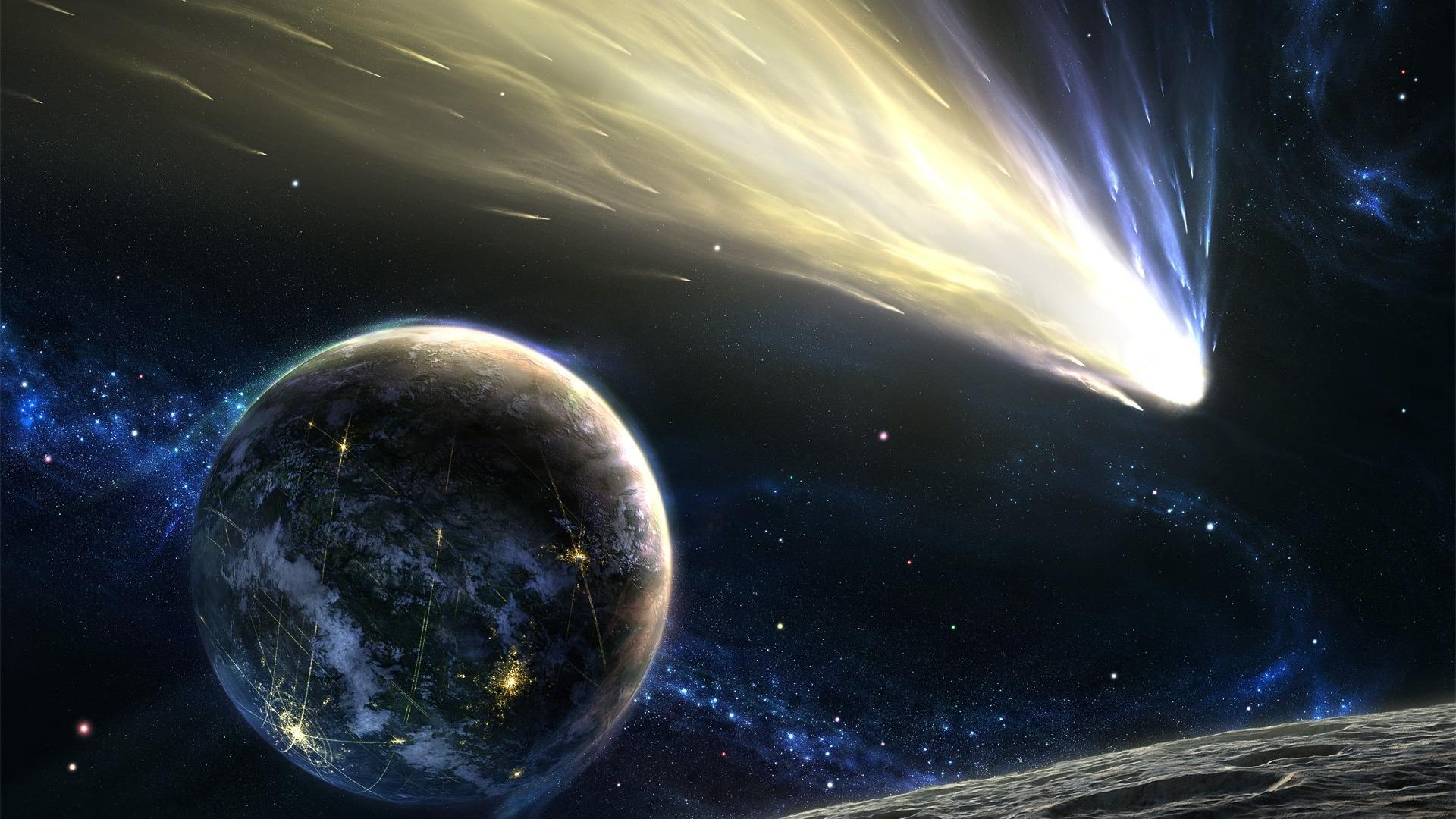комета, хвост, новые миры
