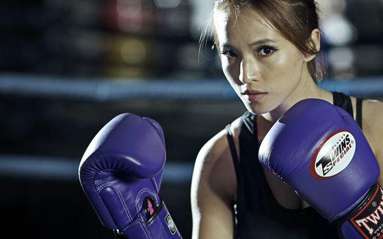 Photo free boxing, girl, training