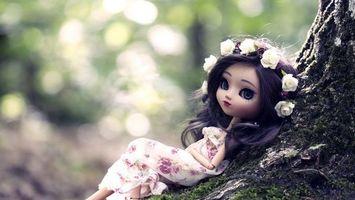Фото бесплатно дерево, кукла, глаза