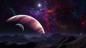 Фото бесплатно Космос, планета, Необъятные просторы космоса
