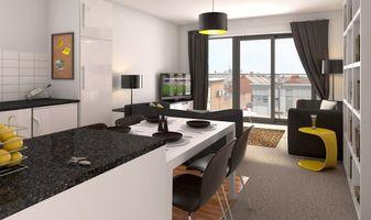 Бесплатные фото кухня, ключи, стол, столешница, стулья, телевизор, люстра