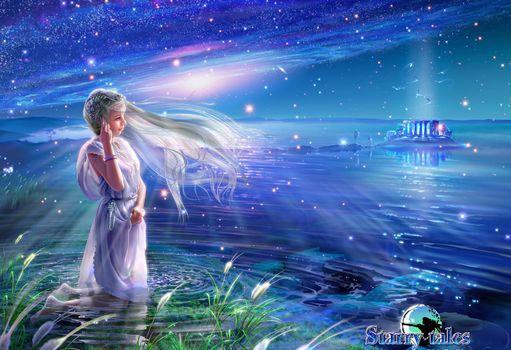 Photo free wallpaper, fantasy, starry