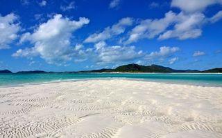 Бесплатные фото острова,океан,белый,песок,деревья,небо,облака