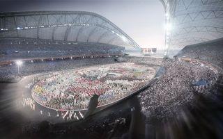 Бесплатные фото стадион,люди,олимпиада,фонари,вечер,освещение,разное