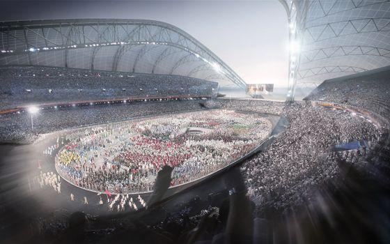 Фото бесплатно стадион, люди, олимпиада