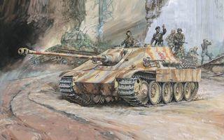 Фото бесплатно танки, война, солдаты