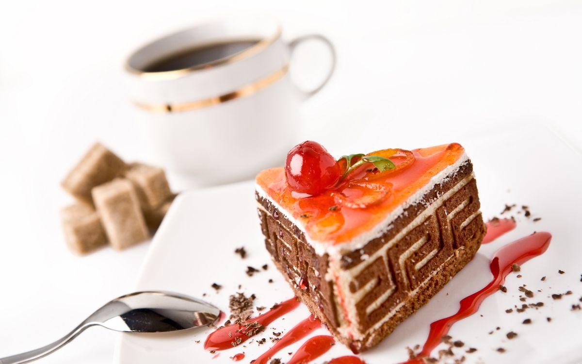 Фото бесплатно тортик, пирожное, десерт, кусок, ложка, соус, стружка, шоколад, чашка, кофе, тарелка, сахар, кубик, еда, еда