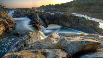 Бесплатные фото водопады,река,скала,камни,течение,русло,природа