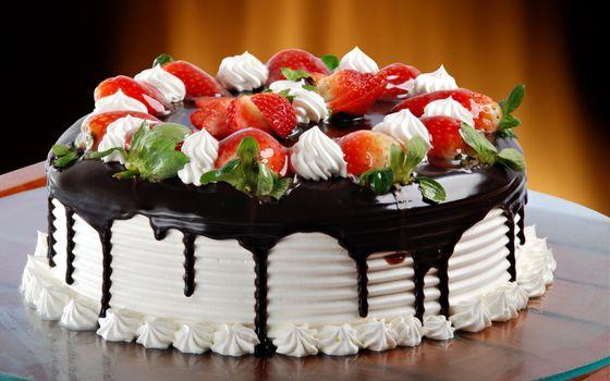 Фото бесплатно торт, сливки, шоколад