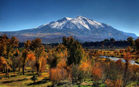 Заставки гора, осень, деревья