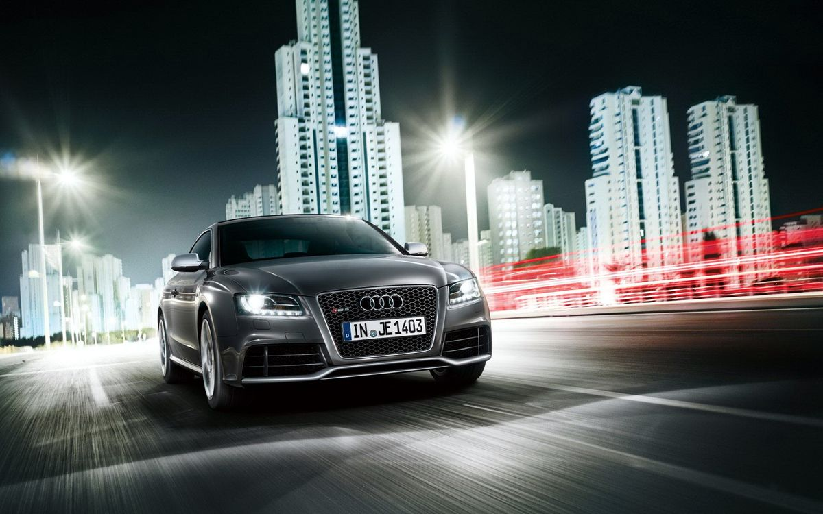 Photos for free audi, gray, route - to the desktop