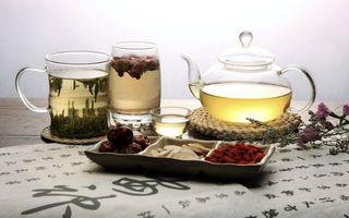 Фото бесплатно чай, чашка, стакан, чайник, подставка, пергамент, иероглифы, сладости, напитки, еда