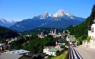 Фото бесплатно дома, дорога, горы