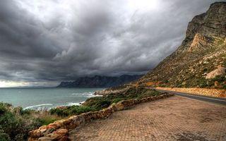 Фото бесплатно дорога, гора, берег