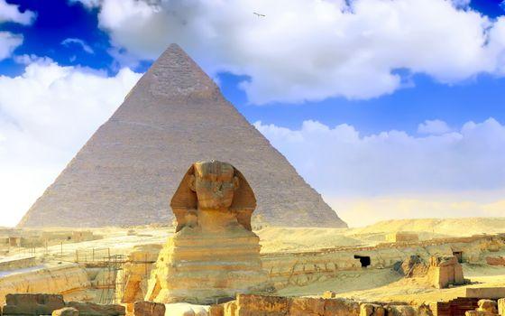 Фото бесплатно египет, пирамида, пустыня