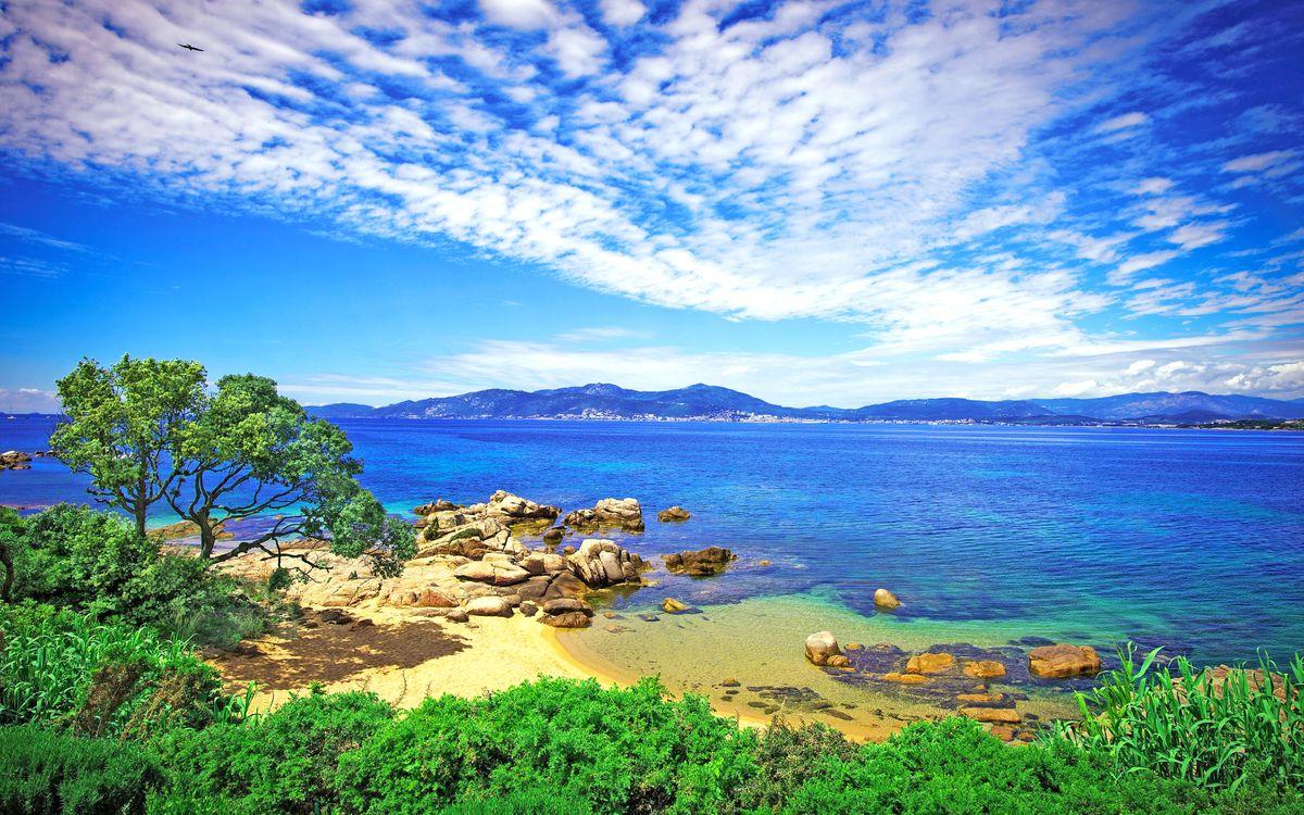 Фото бесплатно франция, море, пляж - на рабочий стол