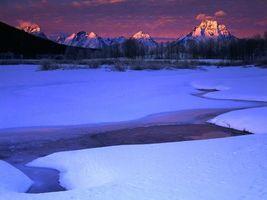 Заставки горы, снег, высота