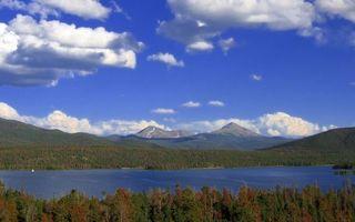 Бесплатные фото горы,река,озеро,вода,лес,небо,облока