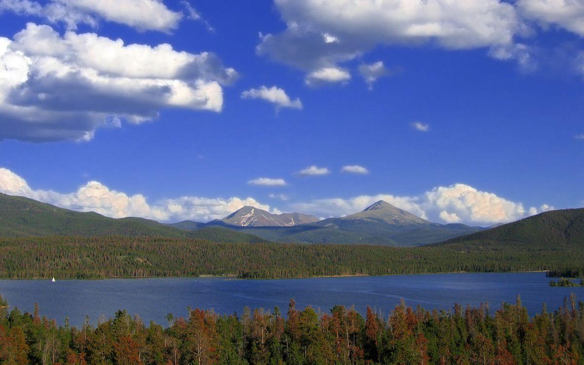 Фото бесплатно горы, река, озеро - на рабочий стол