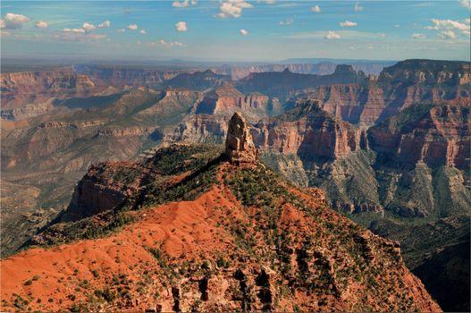 grand canyon, горы, скалы, пейзаж, природа