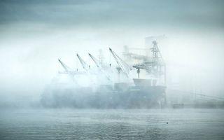 Бесплатные фото корабли,туман,небо,голубое,море,океан,вода