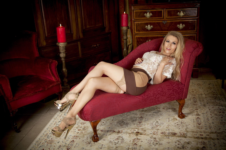 Blonde pornstar in hot lingerie Michelle Moist spreading her pussy  706659
