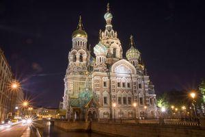 Фото бесплатно Собор Василия Блаженного, огни, освещение