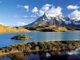 Фото бесплатно река, вода, холмы
