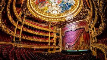 Фото бесплатно театр, потолок, фрески