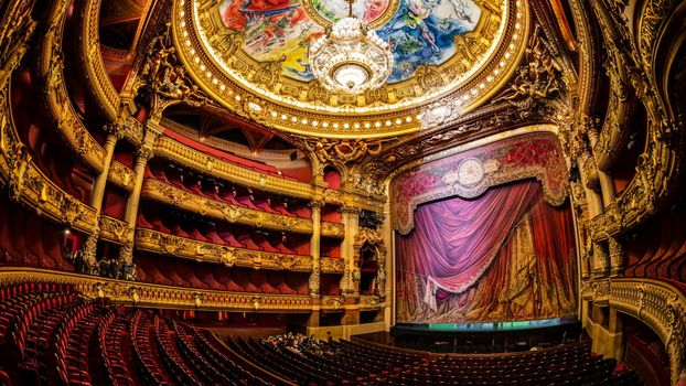 Photo free theater, ceiling, murals