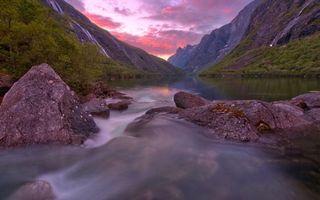 Фото бесплатно горы, закат, камни