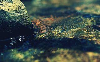 Бесплатные фото вода,река,камень,дно,мелководье,разводы,природа