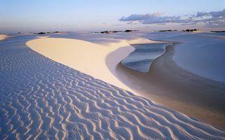 Фото бесплатно вода, река, песок