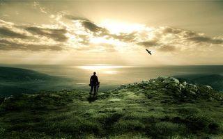 Фото бесплатно воин, берег, моря