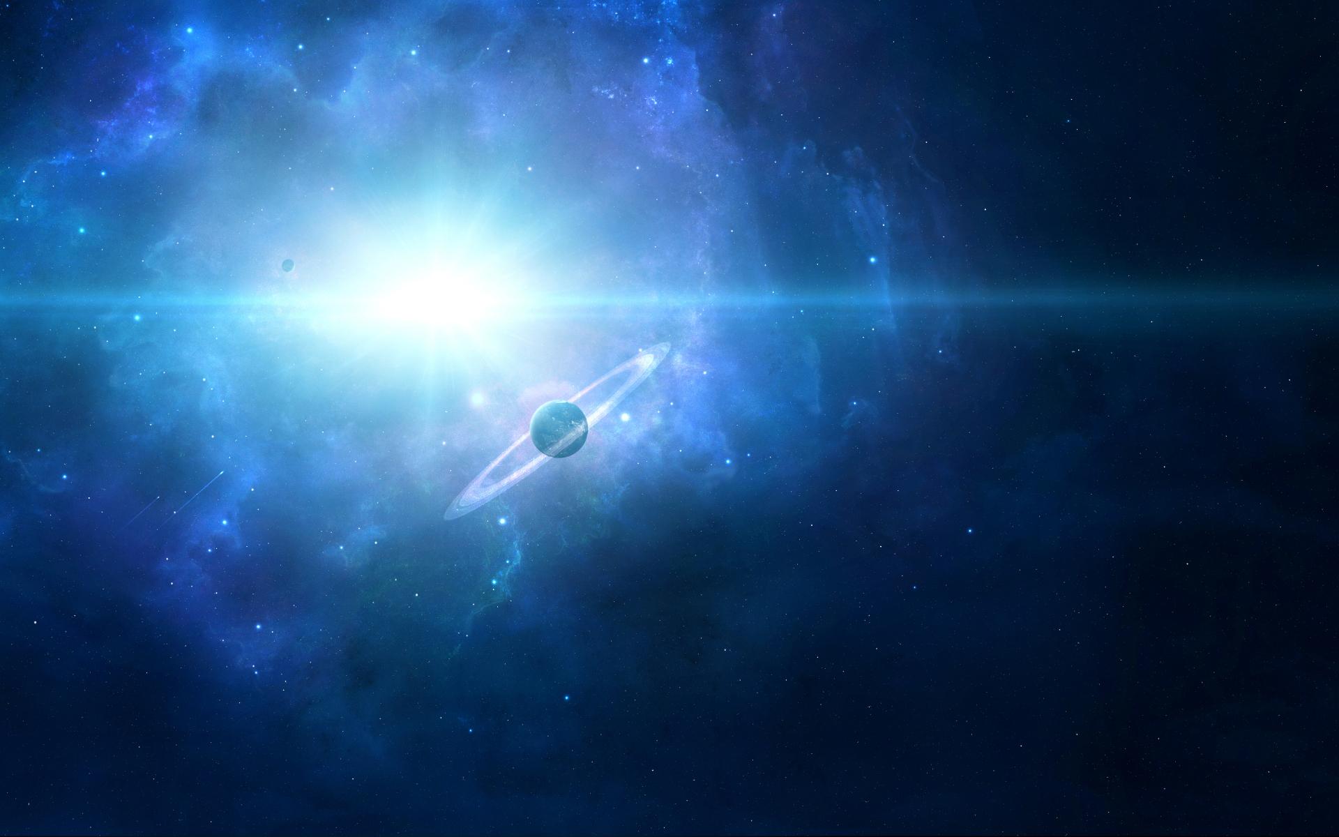 Обои Свечение за планетами картинки на рабочий стол на тему Космос - скачать  № 1772725 загрузить