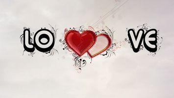 Фото бесплатно hearts, love, абстракция