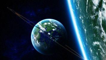 Фото бесплатно планеты, большая, маленькая