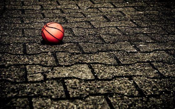 Photo free ball, basketball, pavement