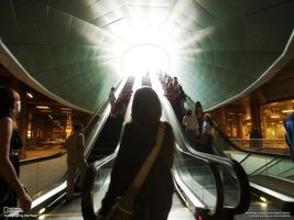Photo free escalator, sun, rays