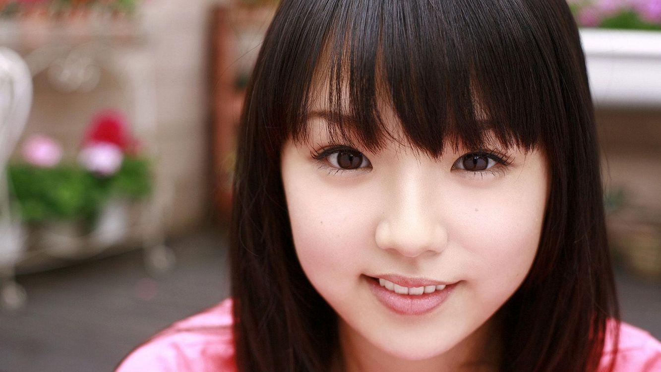 Фото бесплатно брюнетка, азиатка, волосы - на рабочий стол