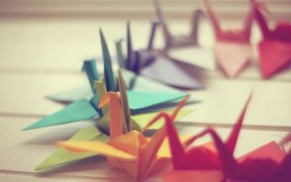 Фото бесплатно бумажные, птицы, оригами