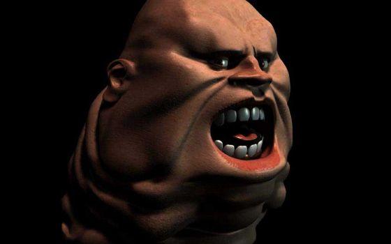 Photo free man, head, teeth