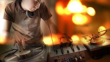 Photo free DJ, work, headphones
