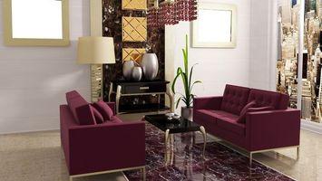 Фото бесплатно диваны, стол, цветы