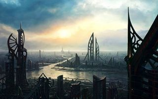 Бесплатные фото дома,будущее,небо,тучи,сооружения,улица,дорога