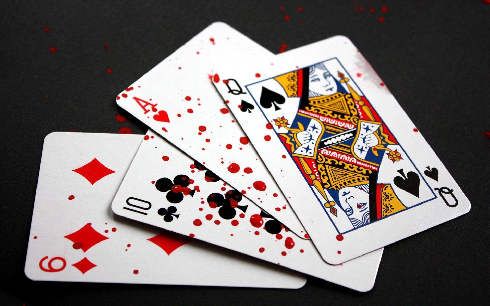 карты, кровь, капли