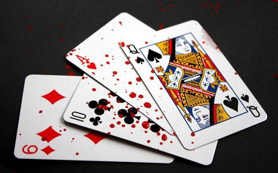 Фото бесплатно карты, кровь, капли