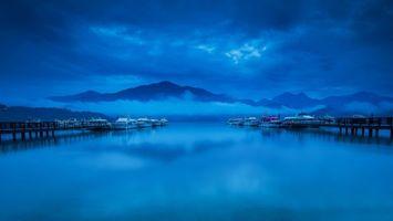 Фото бесплатно море, горы, тучи