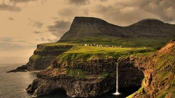 Фото бесплатно вода, небо, скалы